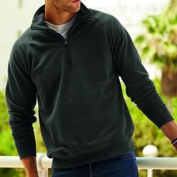 Fruit of the Loom Zip-Neck Sweat