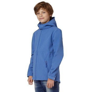 B & C Hooded Softshell Kids